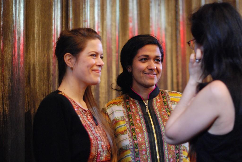 Regissörerna Anna Persson och Shaon Chakraborty.